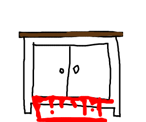 Cabinet pours blood