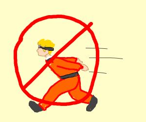 no more Naruto running