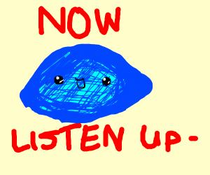 Blue lemooon blew in space