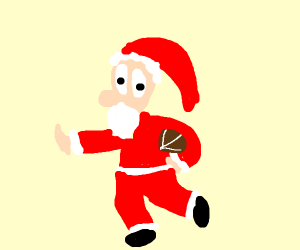 Santa plays Football