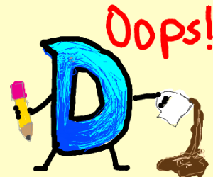 Drawception D spilled it's coffee