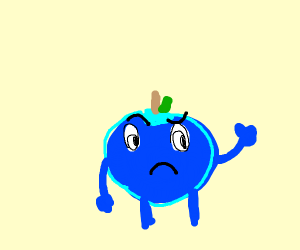 confused blueberry