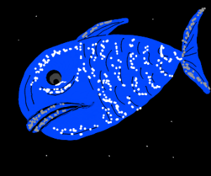 Sad blue fish