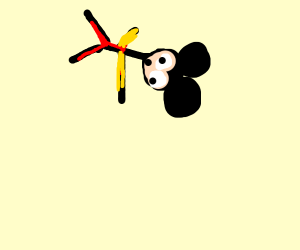 Mickey Mouse free falling