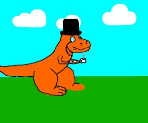 Classy dinosaur