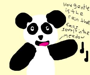 Singing Panda