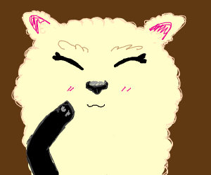 A sheep is blushing for unkown reasons