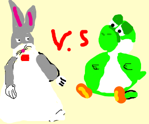 Fat Yoshi Vs Big Chungus Big Chungus Loses Drawception