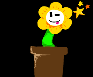 Flowey in a flower pot