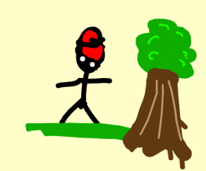 stick boi with red cap