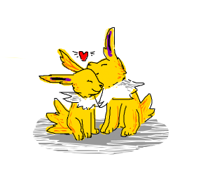 two jolteons love eachother