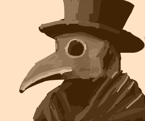 Plague doctor with a top hat