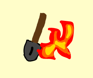 Flammable shovel