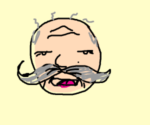 Old man with lovely moustache