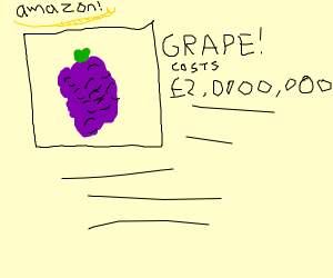 expensive grapes on amazon