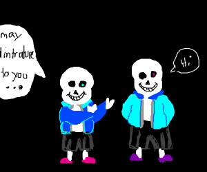 Sans introduces his twin