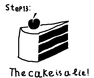 Step 12: Cheer up because you have cake!