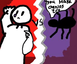 Dude gets rekt by arachnid