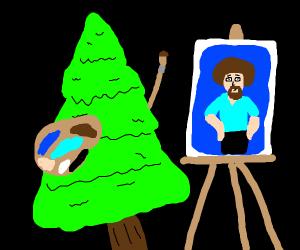 tree painting bob ross