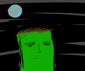 frankenstein monster under a moonlit sky
