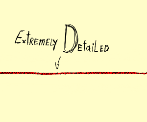 Extremely detailed red line