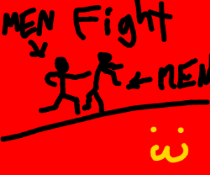 Men fighting