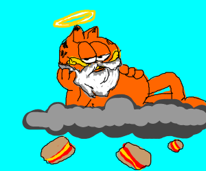 Garfielf Becomes God And Vores The Universe Drawception