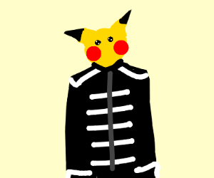Pikachu joins The Black Parade