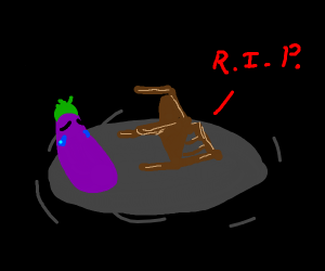 Dead chair makes eggplant cry