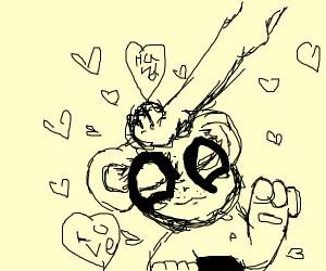Panda loves Hand