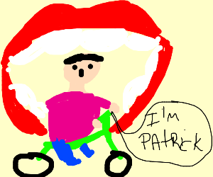 Patrick rides inside mouth going to finland