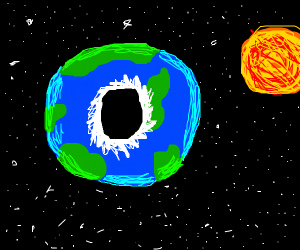 Earth is not a sphere, it's donut-shaped!