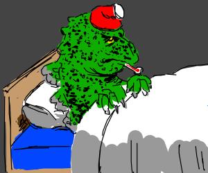 Godzilla on a bad day