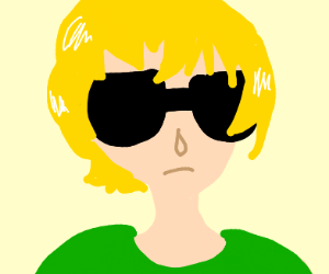 Guy With Blonde Hair And Sunglasses