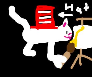 Artistic Cat in the Hat