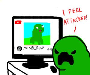 creeper is disturbed with minecraft parody