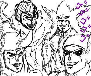 Me and the boys becoming jojo characters