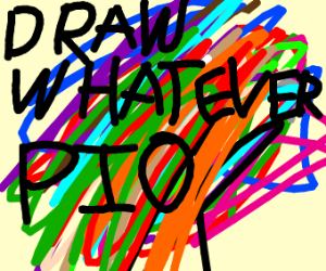 draw what you want (pass it on)