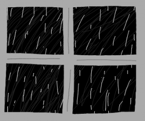Rainy day through a window