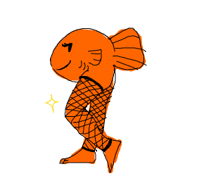 Fish wearing fishnet socks
