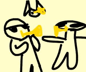 Me and the boys playing the trumpet
