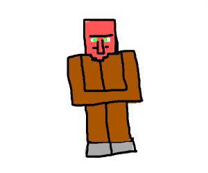 Villager from Minecraft