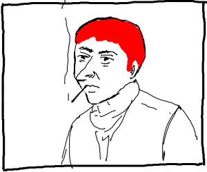 a man with a red hair