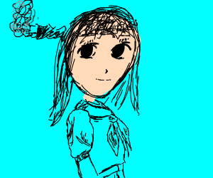 Steampunk Japanese schoolgirl