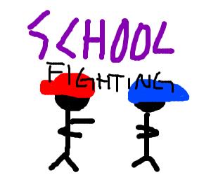 School fighting: new video game!