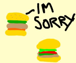 Cheeseburger apologizes to other cheeseburger