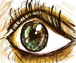 detailed eye close up