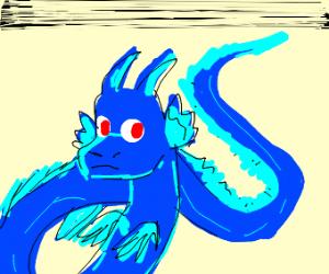 A blue dragon.