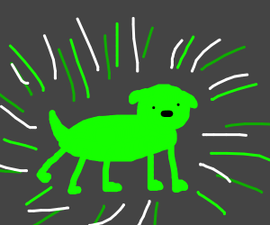radioactive dog (with 5th leg on back)