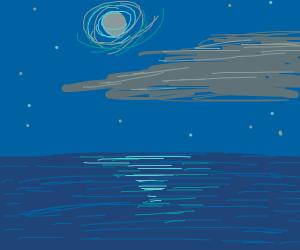 ocean in the dark